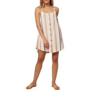 O'Neill Dray Stripe 100% Cotton Sundress